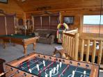 Game Room with Foosball Table, Pool Table, Dart Board and Juke Box