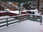 lower porch area