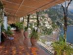 Breathtaking view of Positano from the terrace