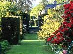Enjoy a stroll around Plas Brondanw Gardens, Penrhyndeudraeth