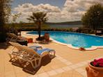 Vacation home Suite Magnolia with pool and view at lake near Viterbo