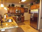 Fully equipped kitchen with beautiful stainless steel appliances