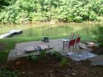 Enjoy the paver patio and fire pit.