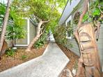 Lush walkway