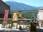 Craft market in Eus on one of the village squares in the summer