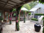 Relax in the shade of our vibrant bougainvillaea's