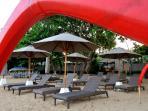 villa guests beach area