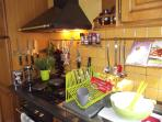 Separate kitchen. Generous kitchen-/tableware and cutlery. The Chef will be Happy!