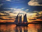 We recommend the sunset cruise on the Schooner Freedom.