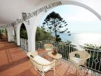 Terrace sea and capri view at villa nilly holidays up vacation with swimming pool journey homeaway