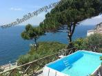 Villa in massa lubrense guesthouse nilly with terrace, solarium, sundeck and beach view travel italy