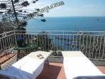 Villa with amazing isle of capri and beach view with private swimming pool sorrento holiday booking