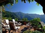 Terrace with outdoor lounge and 180 degree views of Lucca, surrounding hills and little villages
