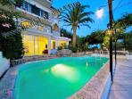 Villa Carlotta with private swimming pool, terrace with patio and sea view holiday rentals booking