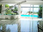 House villa carlotta to rent large living area with access to terrace and pool sorrento holidays