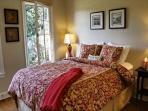 Guest bedroom has queen with luxury linens.