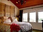 Master Bedroom with Amazing Ocean Views and King Bed.