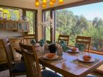 Dine in Style with Views of the Tree Tops and the Ocean