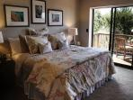 Guest Room #2 can be 2 Twins or a King with a Foam Topper.  There is an Ocean View and Deck with Seating Area.