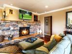 Enjoy a Cozy Fire While Relaxing or Watching the HDTV.