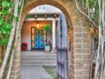 Entrance gate - Welcome to the hidden house, 'Villa Escondido'.