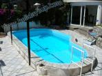 Villa with pool, solarium and outside shower and amazing sea view amalfi coast holiday booking rent
