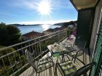 Balcony with sea view only 20 m from the beach apartment Mar deLuxe no.3