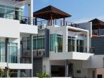 Sea side view of villa's exterior!