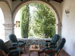 Your outdoor sitting room has real Renaissance atmosphere