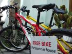 Free bike for guest in house