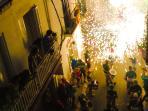 Fiesta Mayor / Fireworks in the streets