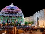 The Jaffa gate during the Jerusalem Light Festival