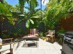 Private courtyard with direct access to swimming pool