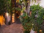Courtyard at dusk
