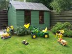 Garden with play toys