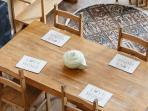Dining table seating for four
