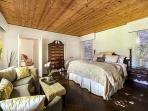 Master Bedroom is Spacious. King Size Bed, Access to Courtyard