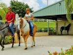 The equestrian center at Palmas lets and adults ride along the beach.