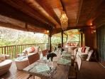 Veranda dining and living