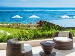 View of infinity pool and ocean deck