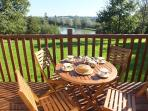 All our lodges have South-facing private balconies which overlook the 1.5acre coarse fishing lake