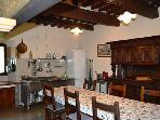 Well equipped traditional style kitchen with lots of dining space!