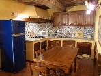 Handmade traditional tuscan kitchen