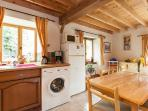 Kitchen, with washing machine available for a small charge.