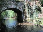 stone bridge on the property