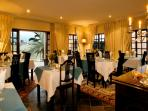 A scrumptious breakfast is served in the dining room, daily