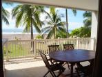 Oceanfront condo with balcony overlooking the waves!