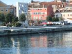 The lovely seafront and Casa Bella only 30 meters from the crystal Adriatic sea