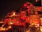 Night view of Minori during Easter holiday