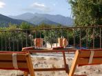 Boiled eggs and magnificent Mount Canigou that's the life